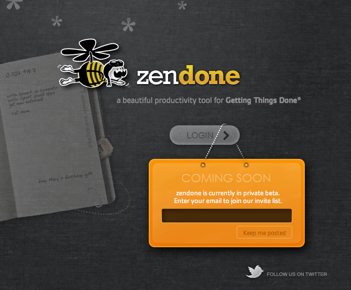 zendone: 'a beautiful productivity tool for getting things done' (1/4)