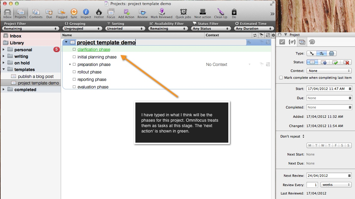 Project Phases Template | Set Up A Project Template In Omnifocus Purplezengoat