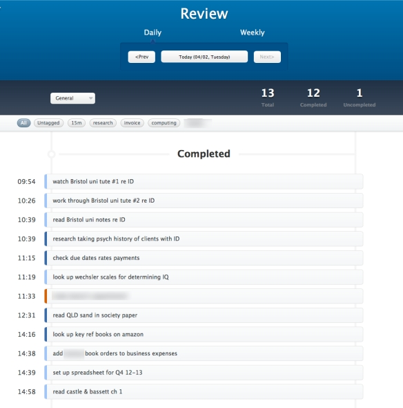 Doit: sample daily review