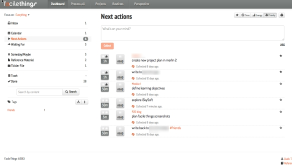 Where the (next) action is: the Facile Things dashboard.