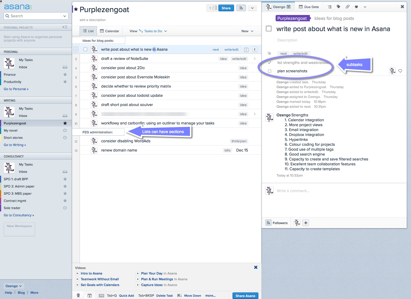 Asana goes from strength to strength purplezengoat for Asana task template