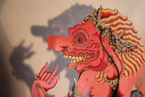 Character or caricature? A Wayang Kulit puppet.